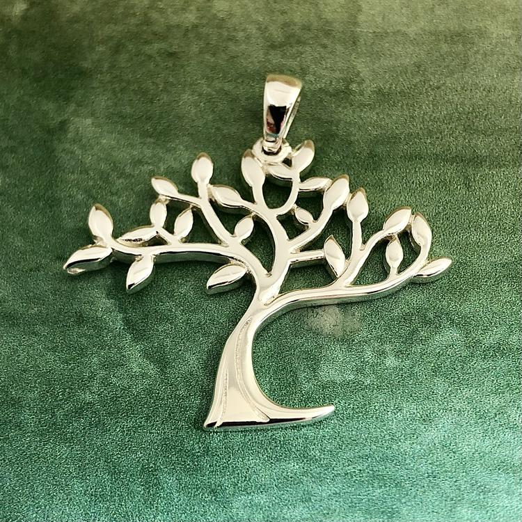 Livets träd - Stort vackert hänge i silver