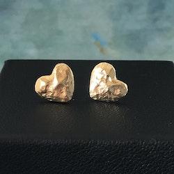 Guldhjärta - Örhängen i silver med guldplätering