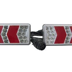 6-funktions LED-bakljus med 13-poligkontakt