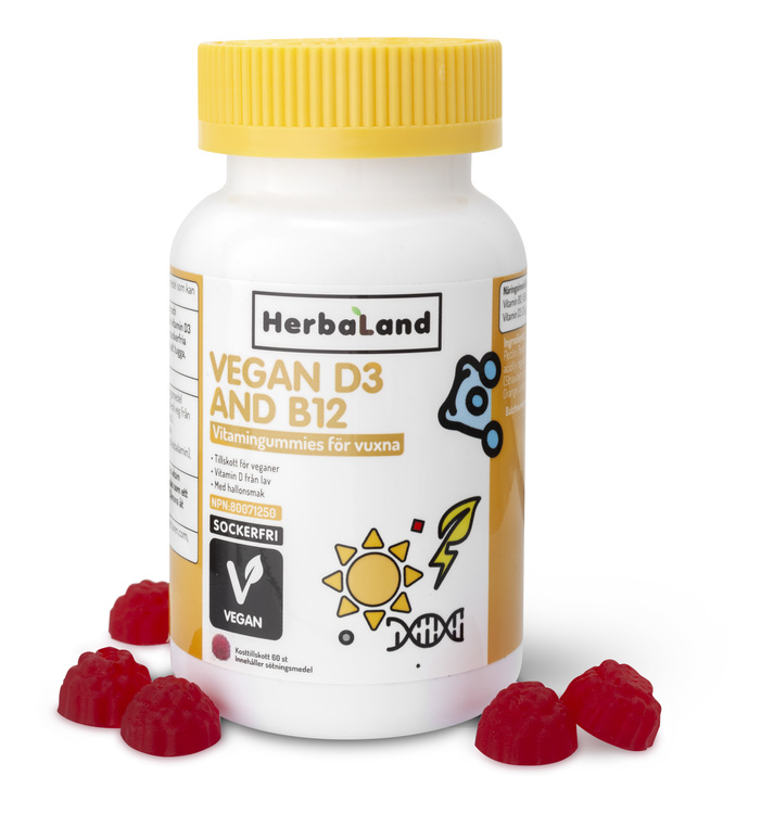 Herbalands Vegan D3+B12
