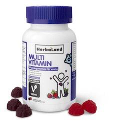 Herbaland Multivitamingummies vegan, 60 st