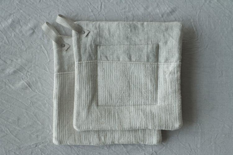 Grytlapp i linne, 2-pack