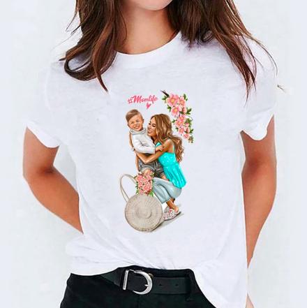 Super mamma t-skjorte