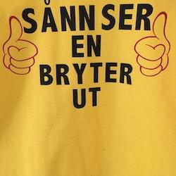T-skjorte Unisex Bomull Bryte t-skjorte