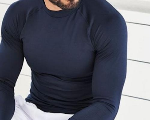 Langermet T-skjorte Herre Teknisk Stoff