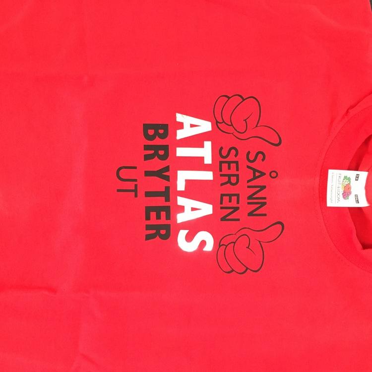 Rød bryte T-skjorte Barn