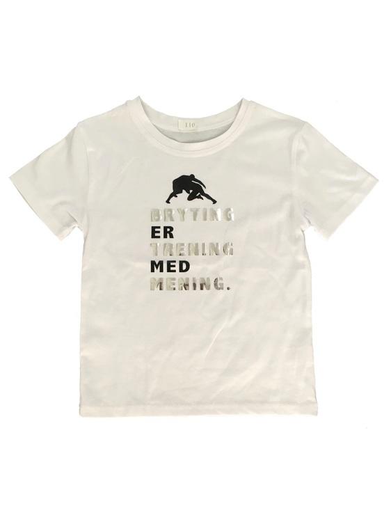 Hvit bryte T-skjorte Barn