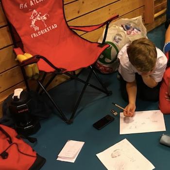 Rød Campingstol med egen logo