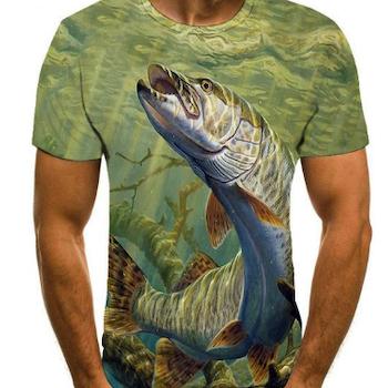 Fiske T-skjorte