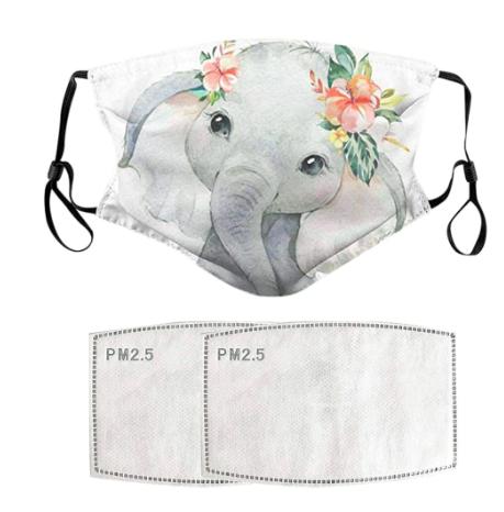 SALG!  Halvpris: Munnbind med elefantmotiv.