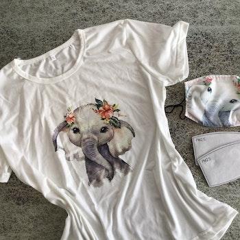 Vårens trend? Matchende t-skjorte og munnbind!