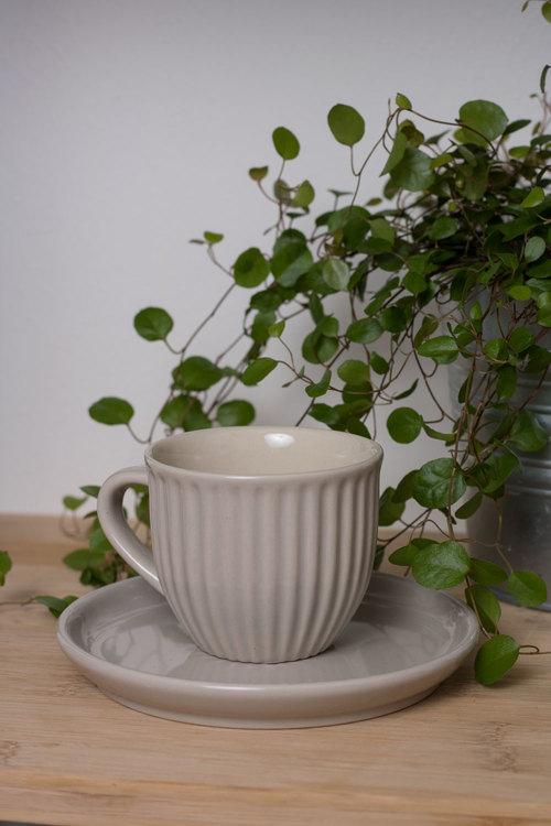 Kopp med Fat - Mynte - Latte