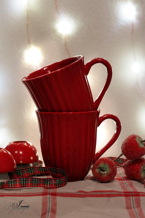 Mugg - Mynte - Röd