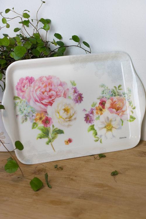 Set - Blommor - Vit