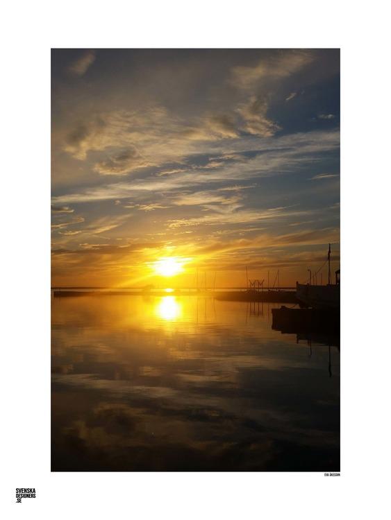 Solnedgång Färjestaden