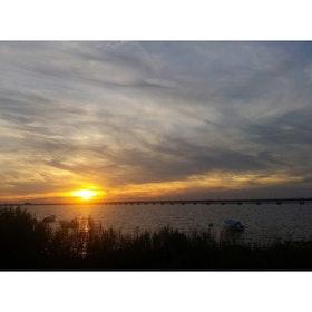 Solnedgång över Kalmar
