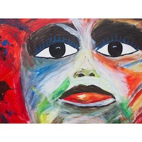 Ansikte i färg