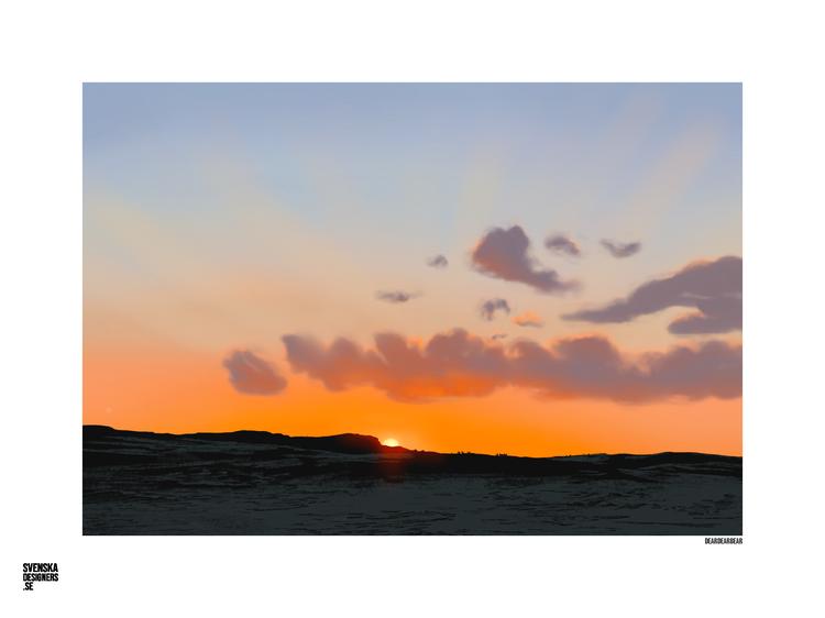 Solnedgång över blåhammaren