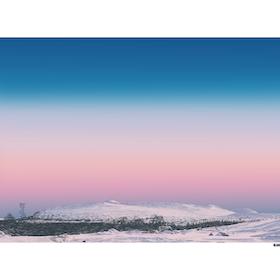 Solnedgång Snasahögarna