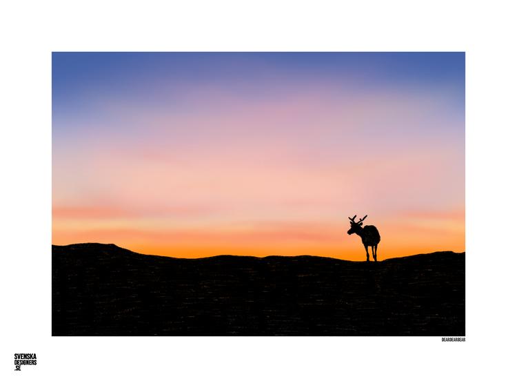 Ren i solnedgång