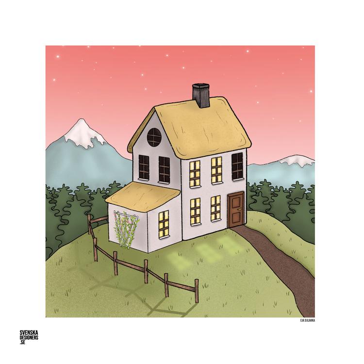 Hus på kulle