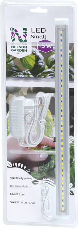Växtbelysning LED Small med adapter 15 W 39 cm
