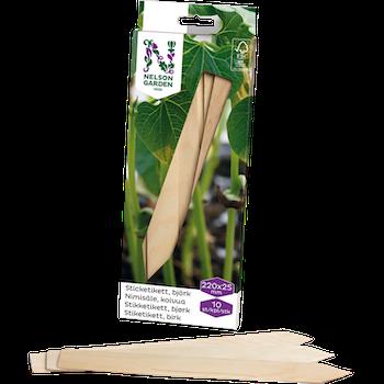 Sticketiketter trä, 22 cm