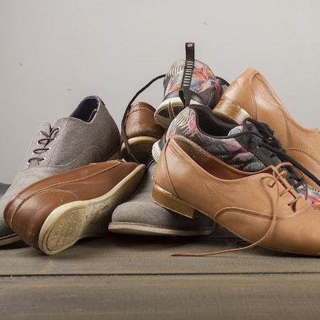 Laga stora kvantiteter skor