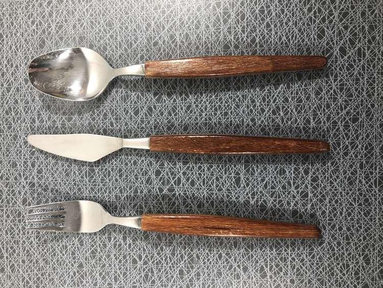 Matsked - rostfritt stål / teak