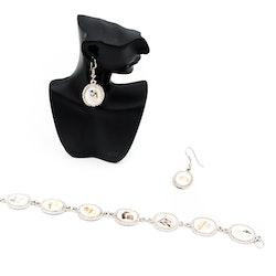 Vackra retro örhängen med pärlemor