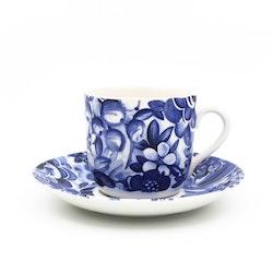 Kaffekopp med liten skada- Blå blomster, Berit Ternell - Gefle