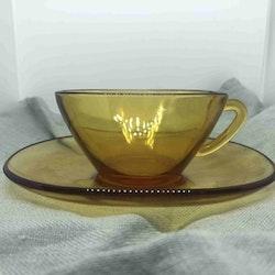 Kaffekopp, bärnstensfärgad - Vereco