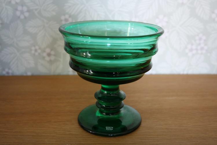 Grön skål - Kosta Boda