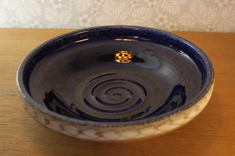 Keramikskål, blå