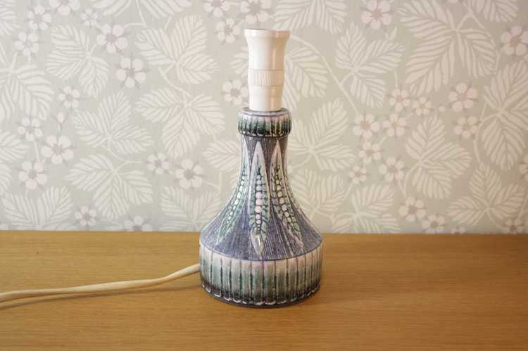Lampfot i keramik - Alingsås keramik 805 ljusblå