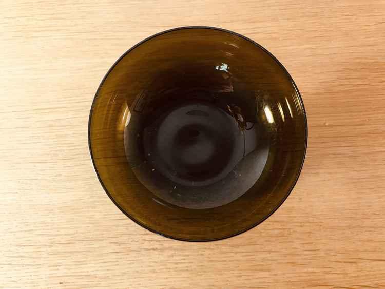 Bruna champagneskålar - Åseda glasbruk