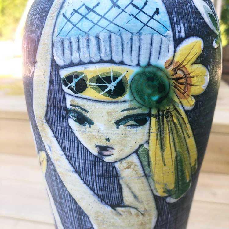 Golvlampa - Marian Zawadsky, Tilgmans keramik närbild kvinna