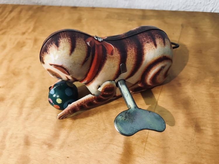 Plåtleksak - Katt