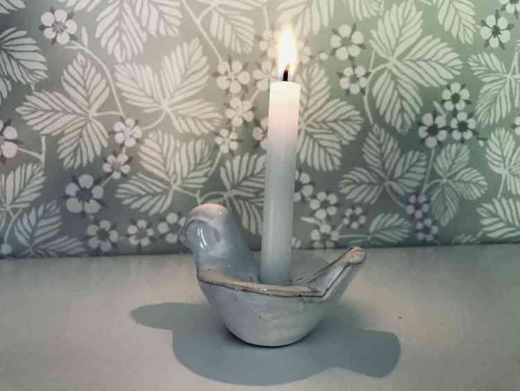 Fågelljusstake - Gabriel Keramik