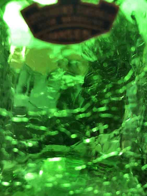 Glasflaska, grön - Ture Berglund, Skansen