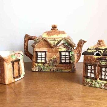 Kaffekanna inkl gräddkanna och sockerskål - England