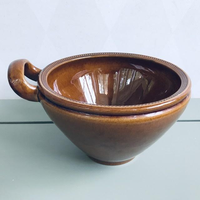 old höganäs keramik skål brun