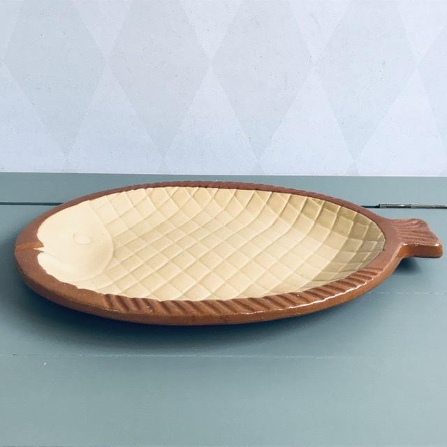 fiskfat höganäs keramik vit brun