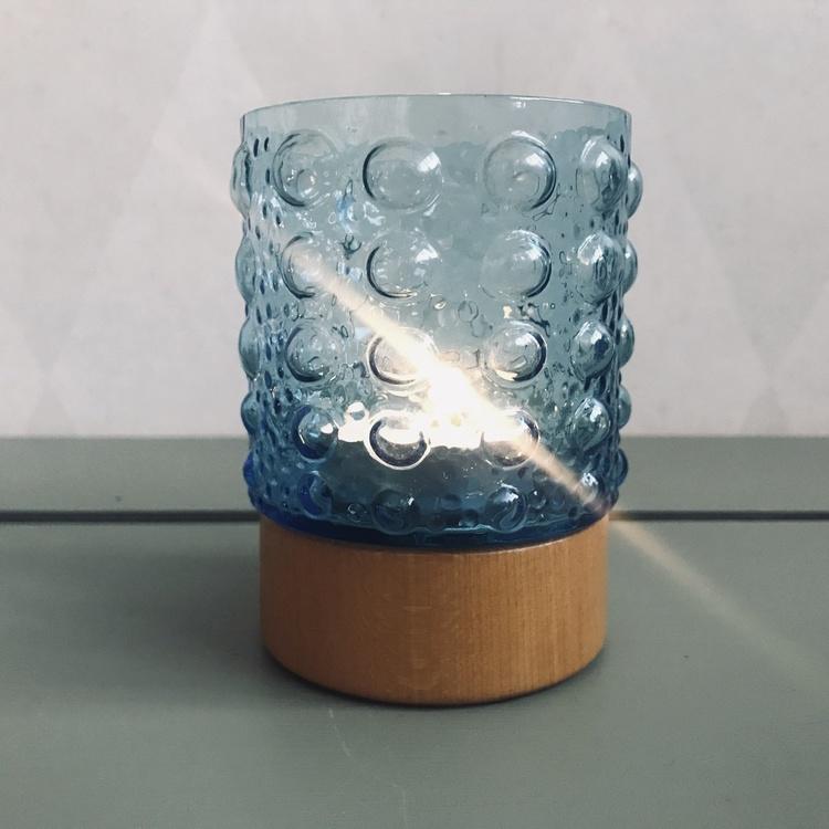 Ljuslyktor trä och glas