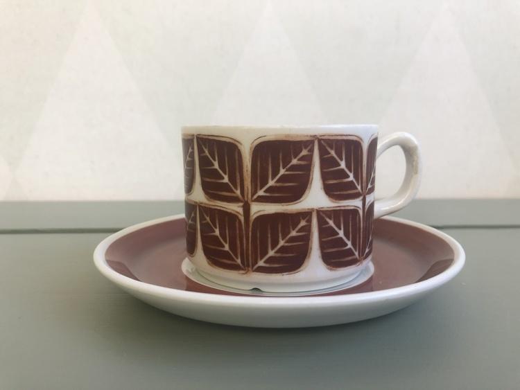 Kaffekopp - Brunt blad, Gefle