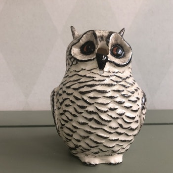 Uggla/ snöruggla - Babbacombe Pottery, England