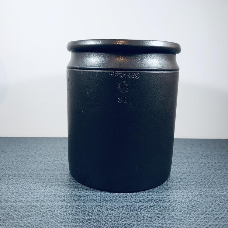 höganäs keramik krus brunt 8 liter