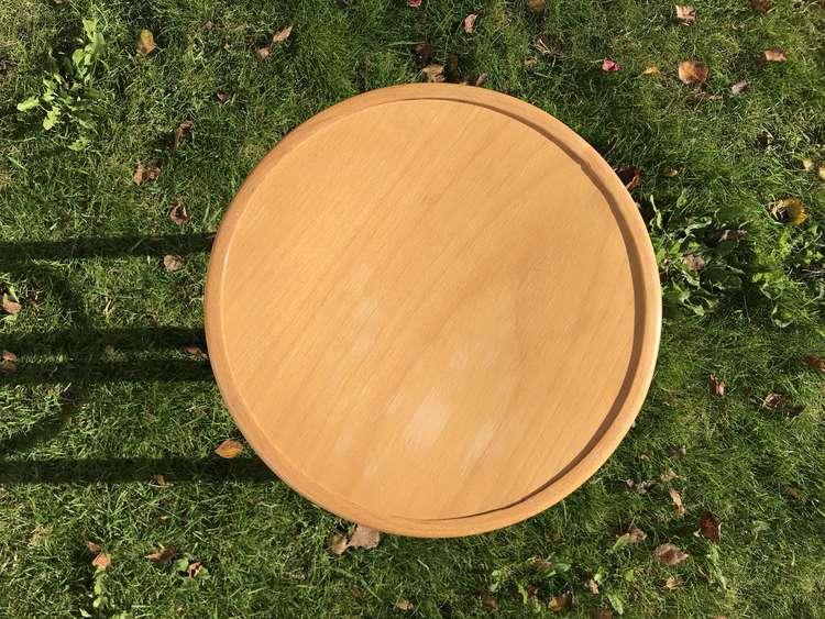 Rund, äldre pall - Thonet-stil topvy