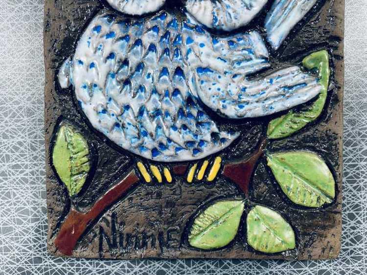 Keramiktavla, 1st uggla - Ninnie Forsgren