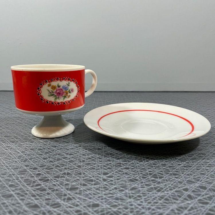 Kaffekopp på fot, 50-60-tal